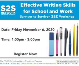 POGO Transitions Program S2S Network Workshop Effective Writing Skills