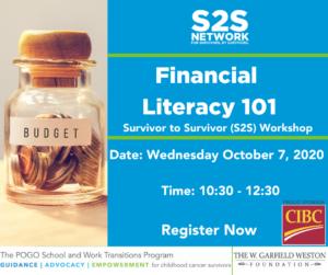 POGO Transitions Program S2S Network Workshop Financial Literacy